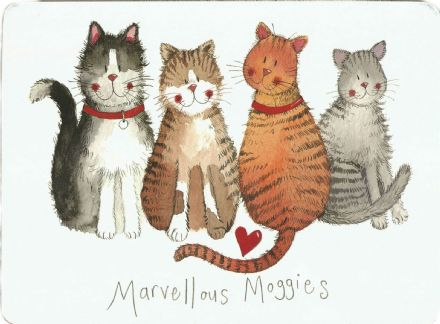 Marvellous Moggies Corked Backed Placemat